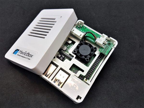 HATL02FP Автоматичен контрол на вентилатора за Raspberry Pi с I2C, 3,3V, 5V, UART пинове и Крипто чип за Raspberry Pi LeapMatic MaticControl