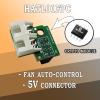 HATL01FPC Автоматичен контрол на вентилатора за Raspberry Pi с 5V пинове и Крипто чип - за Raspberry Pi LeapMatic MaticControl