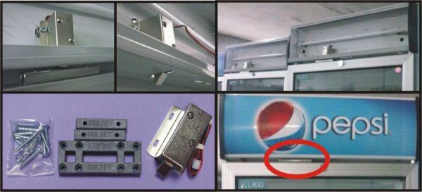 Заключване на хладилни витрини