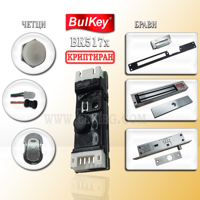 RFID електронна заключваща система за контрол на достъпс чип Bulkey
