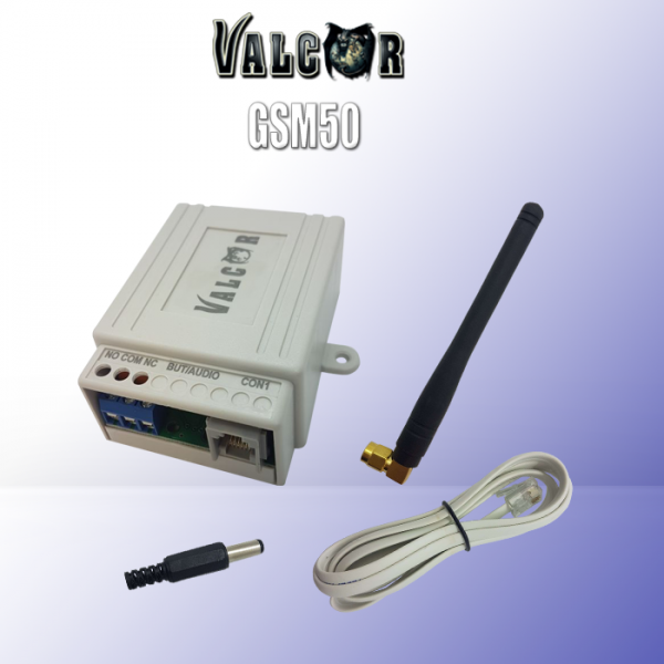 Valcor GSM50 -Универсален мобилен комуникатор с вграден GSM за оповестяване, самостоятелна охрана, управление на уреди