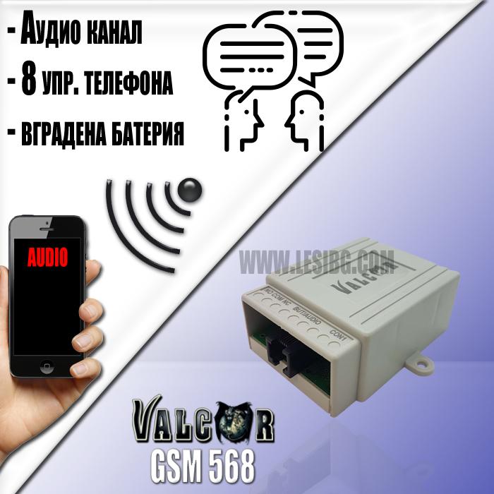 Valcor GSM568 - разговорен модул за асансьорни кабини с вгардена Li-ion батерия