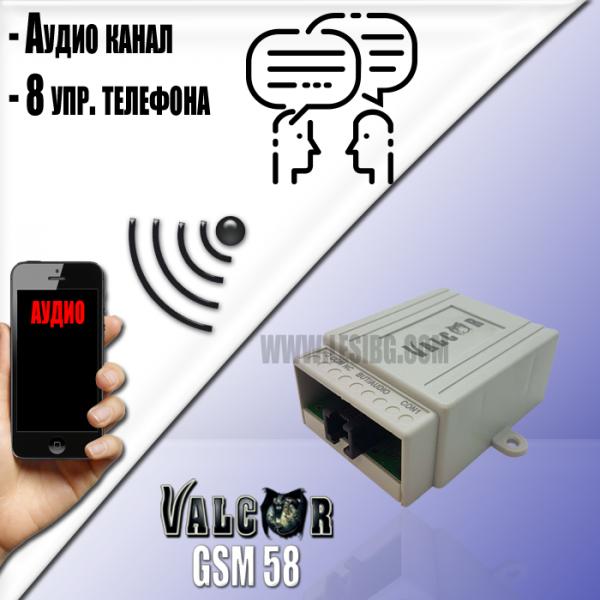 GSM58 - Разговорно устройство с GSM комуникатор