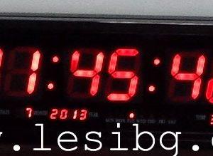 Електронен часовник с температура tº, 470/220/30 мм